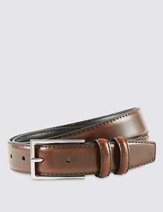 Coated Leather Double Keeper Belt | Marks & Spencer London