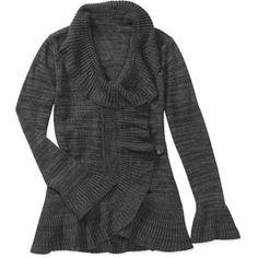 Miss Tina Women's Ruffled Wrap Sweater