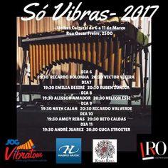 A programação 2017 da Unibes cultural volta em Março com o festival de vibrafones Só VIBRAS Campanha... [Saiba mais!]
