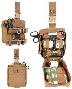 Medic/Leg Rig Kit (CCRK)- CORDURA Solution-Dyed Nylon with Near Infrared Signature Reduction Ghillie-Tex IR signature reduction hardware Sand & water resistant, self-repairing zipper with silent 550 cord pulls MOLLE Style Attachment System C Tactical Medic, Tactical Bag, Combat Medic, Combat Gear, Wildland Firefighter Gear, Bug Out Kit, Molle Backpack, Emergency Equipment, Medical Bag