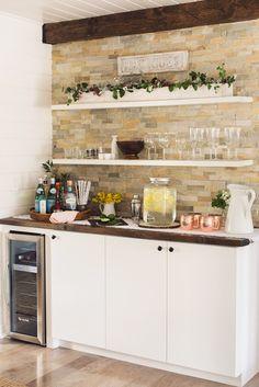 Setting up & Styling a Beverage Station | Jenna Sue Design Blog