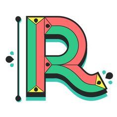R Lettering // Custom Type