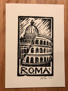 Travel Dreams Block Print Rome