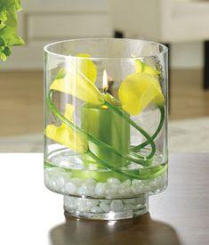 Yellow calla lilies sympathy arrangement