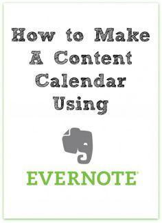 How to Make a Content Calendar using Evernote
