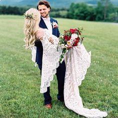 So romantic :heart_eyes:! Swept off our feet with this heart-melting bridal moment! Manson, Barn Wedding Photos, Wedding Ideas, Strictly Weddings, Princess Wedding Dresses, Groom Attire, Mermaid Dresses, Boho, Wedding Bells