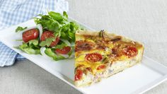 God restepai Quiche Lorraine, Frisk, Vegetable Pizza, Bacon, Eggs, Vegetables, Breakfast, Food, Breakfast Cafe