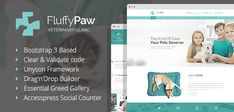FluffyPaw - WordPress theme for veterinary clinic or pet care center. by mwtemplates FluffyPaw a bright and functional WordPress theme with incredibly responsive modern design, created for pet care and veteri Henning Larsen, Vet Clinics, Veterinary Clinics, Theme Forest, Skin Care Center, Innovation, Team Page, Website Themes, Website Ideas