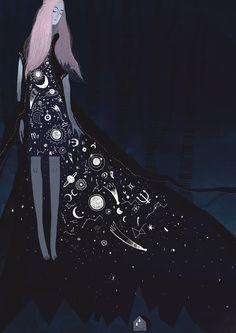 "littlelimpstiff14u2: "" Illustration, Printmaking and Animation by Alexandra Dvornikova  All you need is a wall """