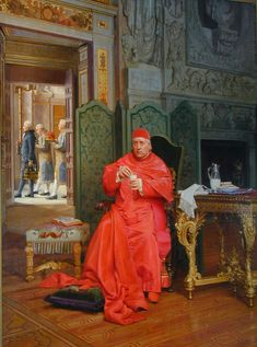 The Diet by French Painter Jehan Georges Vibert 1840-1902