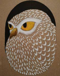 """cache-cache"" chouette n°2 , gouache sur carton.  #illustratrice #illustrationjeunesse #illustration #gouache #chouette #owl #plume Gouache, Illustration, Owl, Bird, Animals, Instagram, Youth, Owls, Feather"