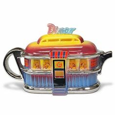 designer teapots seen at curiousphotos.blogspot.com this reminds me of Mel's Diners located on the west coast of Florida