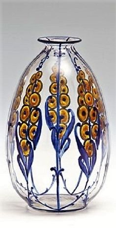 Marcel Goupy (French, 1886–1977) Title:     Vase , ca. 1925  Medium:     glass, painted Size:     15 cm.