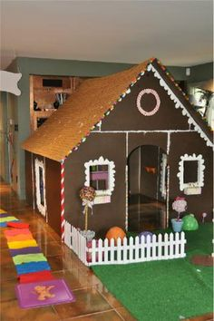 PVC Gingerbread Playhouse possible modification for outdoor Christmas village Christmas Mini Sessions, Christmas Minis, All Things Christmas, Christmas Parade Floats, Fairytale Party, Diy Playhouse, Pvc Projects, Outdoor Christmas Decorations, Candyland