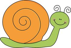 snail clip art | Green and Orange Snail Clip Art Image - cute green snail with an ...