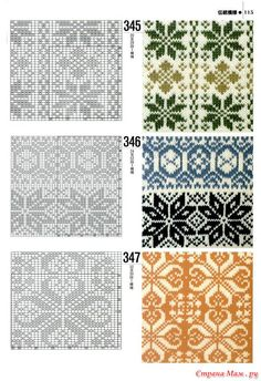 """an entire page of """"norwegian patterns"""" for fair isle knitting Fair Isle Knitting Patterns, Fair Isle Pattern, Knitting Charts, Knitting Stitches, Knitting Designs, Knit Patterns, Stitch Patterns, Sock Knitting, Knitting Tutorials"""