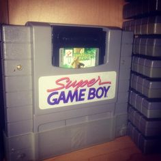 On instagram by heavygamingmachinery #supernintendo #microhobbit (o) http://ift.tt/1nFsdw4 game boy snes #ninstagram #nintendo #snes  #supergameboy #retrogaming #retrogamecollector #retrogamecollective #retrocolectivecanada #nintendointertainmentsystem #gameon #gamers #gaming #nintendoland #nintendolovers