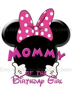 Minnie Mouse iron on transferMommy of the birthday by EmyJeans