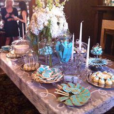 Breakfast at Tiffanys spread #wedding #tiffanys #Tiffany blue