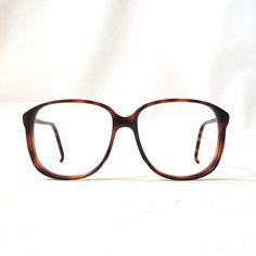 ccb8b85fbd80 vintage 1980 s NOS eyeglasses oversized round brown tortoise shell plastic  frames prescription mens womens modern eye glasses new old stock