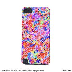 Cute colorful abstract lines painting iPod Touch 5G case