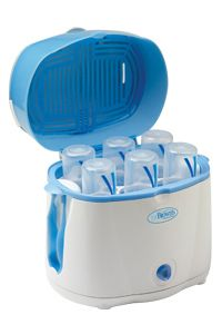 Dr. Brown's Deluxe Bottle Sterilizer — Electric Steam Sterilizer System  Safely steam sterilizes 6 BOTTLES in 12 MINUTES!