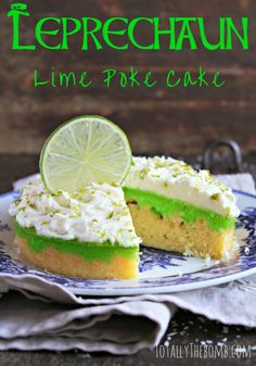 This spirited Leprechaun Lime Poke Cake is just the plate o' gold you were looking for this St. Patrick's Day. Sláinte!