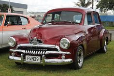 1956 Holden FJ sedan - and my uncle Don had this in Black. Vintage Cars, Antique Cars, Holden Australia, Holden Monaro, Aussie Muscle Cars, Australian Cars, Van Car, Old Pickup, Best Classic Cars