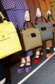 Prada. Bold patterns and bright colours are a welcome tonic on a grey February day.