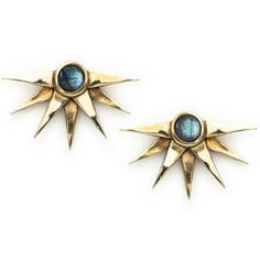 Pamela Love Sunburst Earrings in brass