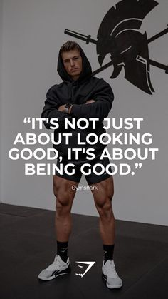 """""""It's not just about looking good, it's about being good."""" - Gymshark. Save this to your motivation board for a reminder! #Gymshark #Quotes #Motivational #Inspiration #Motivate #Phrases #Inspire #Fitness #FitnessQuotes #MotivationalQuotes #Positivity #Routine #HealthyMindset #Productive #Aspiration #Wellness #LifeGoals"""