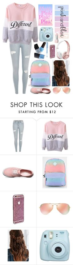 """Color of the Year Inspired Outfit"" by fatimaflores123 ❤ liked on Polyvore featuring moda, Vans, Ray-Ban e Sephora Collection"