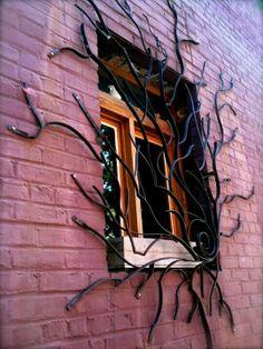 Spider web window guard??