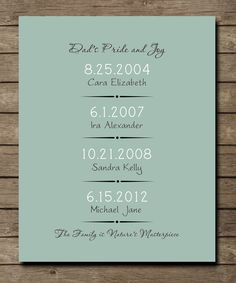 Items similar to Birthday Gift for DAD, Kids Birthday Art Poster, Fathers Day Present, Life's Important Special Dates Print x on Etsy Birthday Presents For Dad, Presents For Best Friends, Fathers Day Presents, Gifts For Dad, Birthday Quotes For Him, Birthday Gift For Wife, Birthday Diy, Birthday Ideas, Homemade Gifts