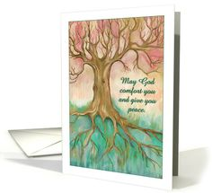 Thank you for your kind sympathy, beautiful tree painting, peach, mint card. Personalize any greeting card for no additional cost! Cards are shipped the Next Business Day. Pastel Sunset, Sunset Colors, Sympathy Cards, Greeting Cards, Deepest Sympathy, Condolences, Cursive, Branches, Thank You Cards