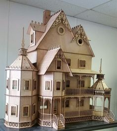 Ashley II Gothic Victorian Mansion Dollhouse Very Large Kit 1:12 scale