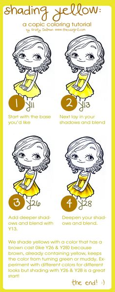 Shading Yellow: a Copic Tutorial | The Odd Girl