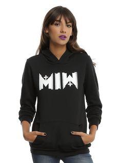 Motionless In White MIW Logo Girls Hoodie, BLACK