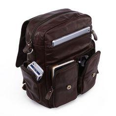 Retro Leather Backpacks Men's Leisure by HandmadeLeatherJenny