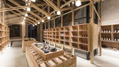 Gallery of The Inverted Truss / BP Architects 10 Commercial Interior Design, Commercial Interiors, Warehouse Renovation, Store Concept, Wood Truss, Warehouse Design, Wood Architecture, Layout, Retail Shop