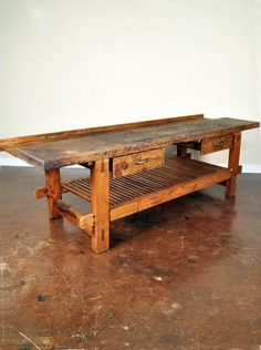 Antique French Work Bench - as kitchen island