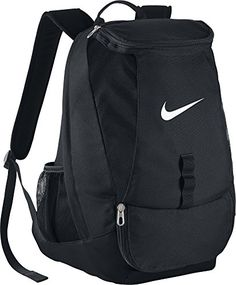 30513517bdf299 The Nike™ Men s Club Team Swoosh Soccer Backpack features a reinforced  tarpaulin bottom and polyester construction.