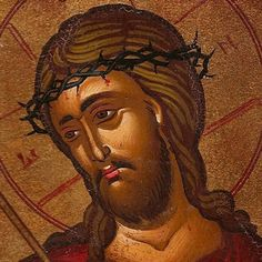 Icon - Christ Wearing the Crown of Thorns