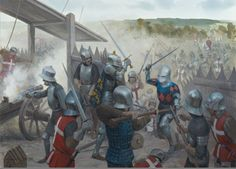 The Battle of Castillon - July 17, 1453 in Gascony near the town of Castillon-sur-Dordogne (later Castillon-la-Bataille). A decisive French victory, it is considered to mark the end of the Hundred Years' War. As a result of the battle, the English lost all landholdings in France, except Calais and the Channel Islands. Osprey Publishing, The Fall of English France 1449-53. Osprey Publishing