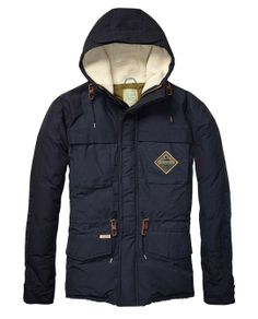 Colour Block Down Jacket > Mens Clothing > Jackets at Scotch & Soda