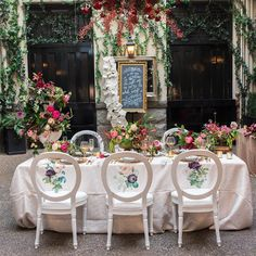 cool vancouver wedding Preparing a design proposal for a secret garden wedding this weekend. Made me think of this gorgeous shoot I did with @blushwedphotos and @bestdayevervan at Brix & Mortar. Love those floral decals on the chairs. Flowers by @celsiafloral by @lovebyphoebe  #vancouverflorist #vancouverwedding #vancouverwedding