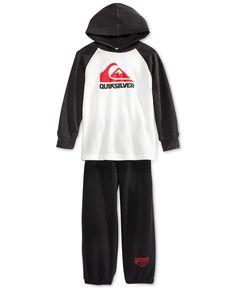 Quiksilver Toddler Boys' 2-Piece Thermal Hoodie & Fleece Pants Set