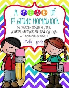 Make Homework Easier This Year!  - A GIVEAWAY for A Year of 1st ... from Lucky to Be in First!  on TeachersNotebook.com (ends on 9-16-2013)