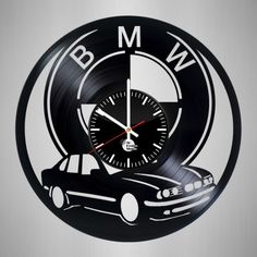 BMW Vintage Vinyl Record Wall Clock - VINYL CLOCKS