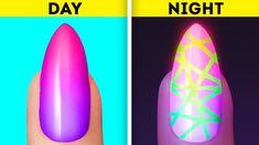 Welcome Crafts Home Nail Art Hacks, Nail Art Diy, Diy Nails, Cute Nails, Pretty Nails, Nail Art Designs Videos, Nail Design Video, Nail Art Videos, Nail Designs